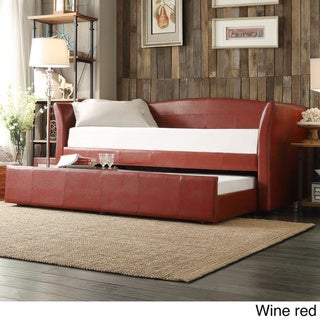 Deco Faux Leather Daybed and Trundle by INSPIRE Q