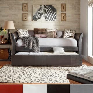 Deco Faux Leather Daybed and Trundle by iNSPIRE Q Bold|https://ak1.ostkcdn.com/images/products/6265725/P13902690.jpg?impolicy=medium
