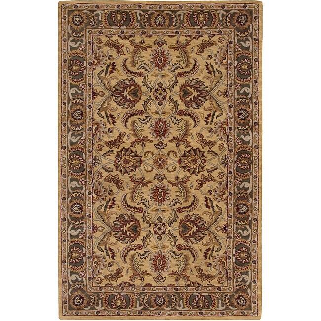 Nourison Hand-tufted Caspian Gold Wool Rug (2'6 x 4')