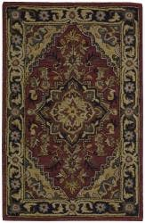 """Nourison Hand-Tufted Caspian Red Wool Accent Rug (2'6 x 4') - 2'6"""" x 4'"""