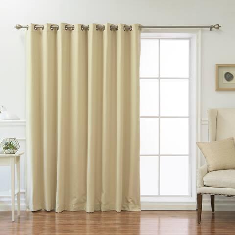 Aurora Home Wide Fire-retardant Grommet 84-inch Blackout Curtain Panel