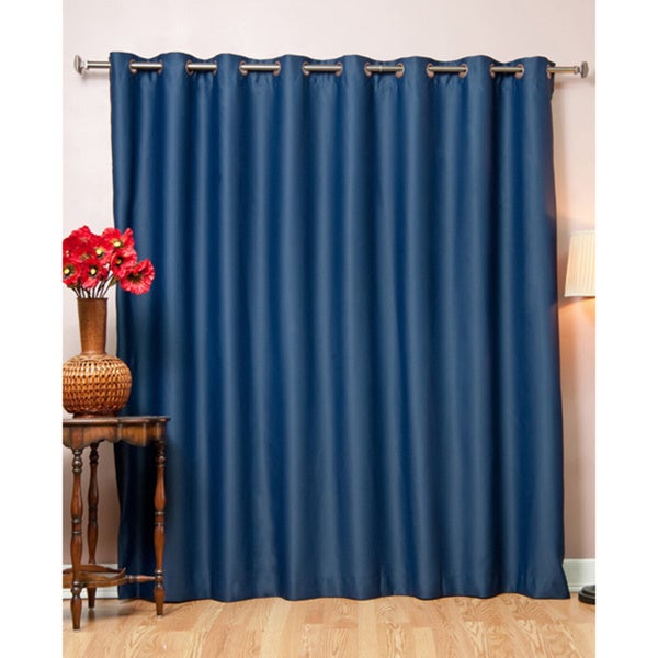 Aurora Home Wide Fire-retardant Grommet 84-inch Blackout Curtain Panel - 100 x 84