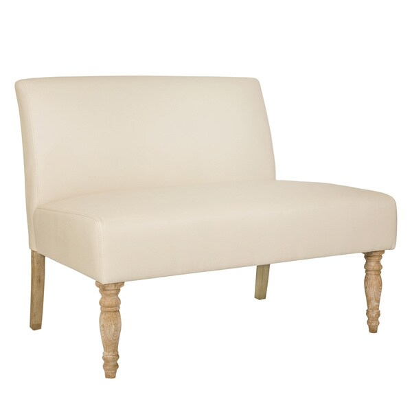 angelo:HOME Bradstreet Marzipan Cream Renu Armless Loveseat