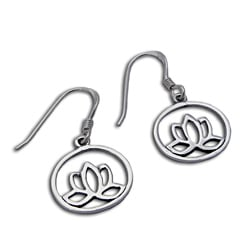 Sterling Silver Enlightenment Lotus Flower Earrings (Thailand)