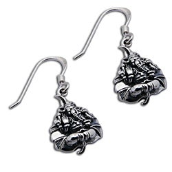 Sterling Silver Ganesh Bodhi Leaf Earrings (Thailand)