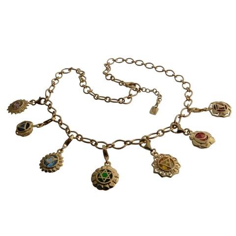 Handmade Gold Vermeil Chakra Mini Charm Necklace (Thailand)
