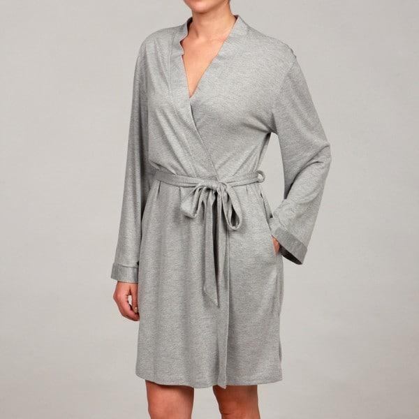 1b23d7239b8 Shop Jones New York Women s Heather Grey Jersey Robe - Free Shipping ...