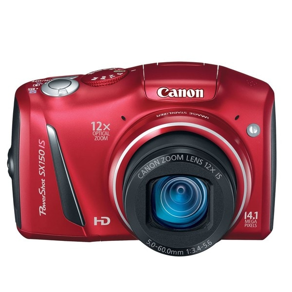 Canon PowerShot SX150 IS 14.1MP Red Digital Camera