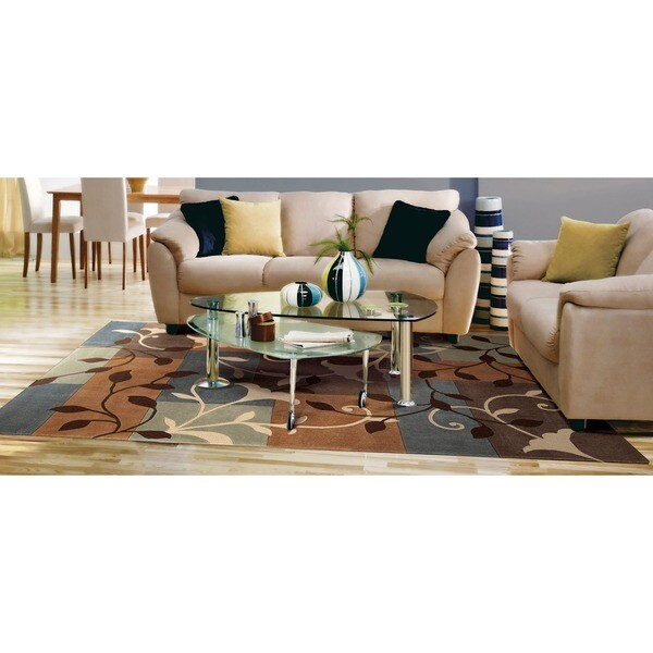 Nourison Hand-Tufted Contours Multicolor Polyester Rug - 5' x 7'6""
