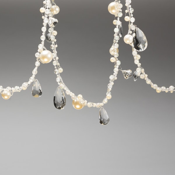 Pearl Garland For Christmas Tree: Shop Set Of Two Crystal Gold And Pearl Christmas Garland