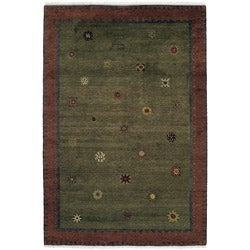 Nepalese Sol Moss Wool Rug (8' x 10')