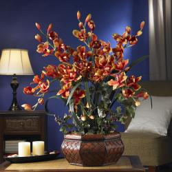 Large Cymbidium Silk Flower Arrangement - Thumbnail 1