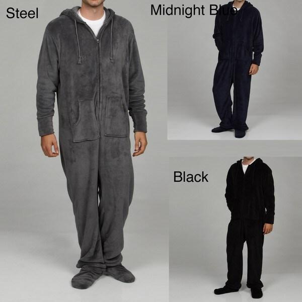 Alexander Del Rossa Men's Microfleece One-piece Pajamas
