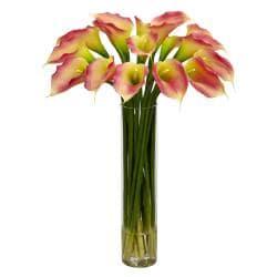 Cylinder Vase Calla Lilly Flower Arrangement - Thumbnail 1