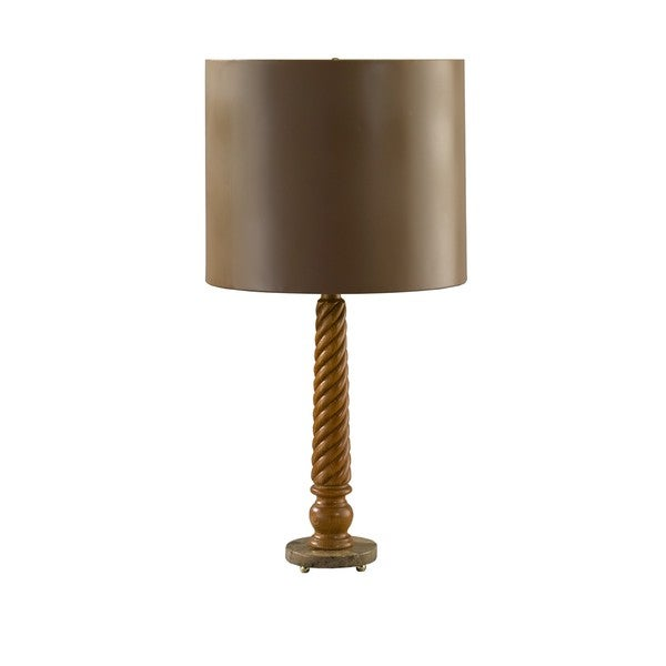 Medium Conservative Tapering Rope Twist Table Lamp