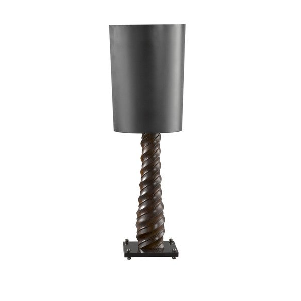Contemporary Medium Double-Rope Tapering Twist Table Lamp