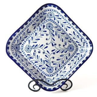 Azoura Design Ceramic 12-inch Square Bowl (Tunisia)