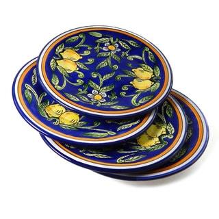Set of 4 Citronique Design 11-inch Round Dinner Plates (Tunisia)