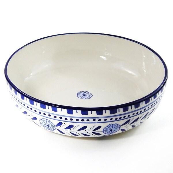 Azoura Design 12-inch Wide Serve Bowl (Tunisia)