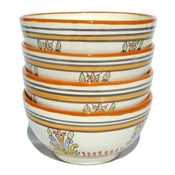 Sauvage Design Ceramic 5.5-inch Soup Bowls (Tunisia)