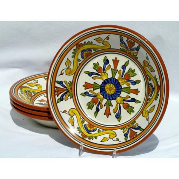 Set of 4 Sauvage Design 9-inch Round Salad Bowls (Tunisia)
