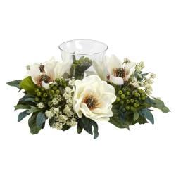 Magnolia Candelabrum Silk Flower Arrangement