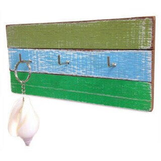 Handmade Recycled Wood 3-Ring Hanger Panel (Thailand)