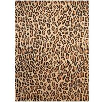 "Handmade Herat Oriental Indo Cheetah-print Wool Rug - 7'6"" x 9'6"" (India)"
