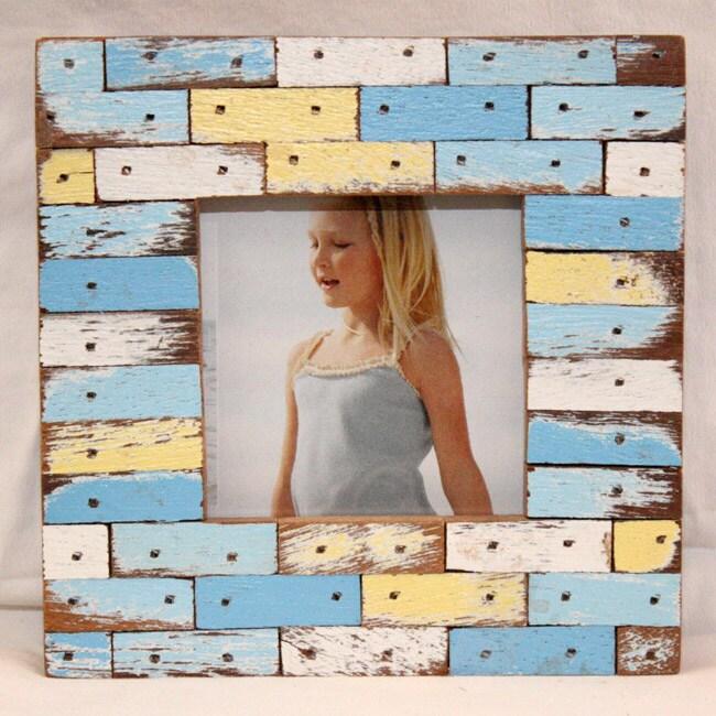 Handmade Puerto Azul Boatwood Jigsaw Frame (Thailand)
