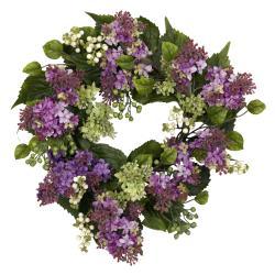 Round 20-inch Hanel Lilac Wreath