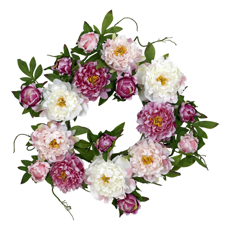 Round 22-inch Peony Wreath