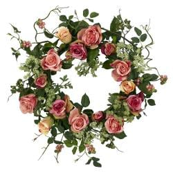 Round 20-inch Rose Wreath