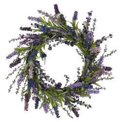 Round 20-inch Lavender Wreath