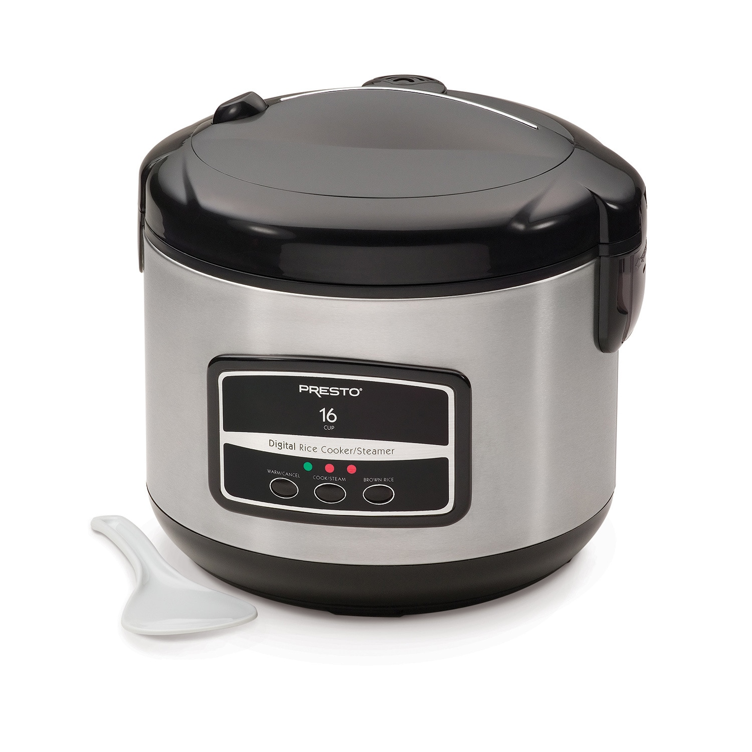 Presto Stainless Steel (Silver) 16-cup Digital Rice Cooke...