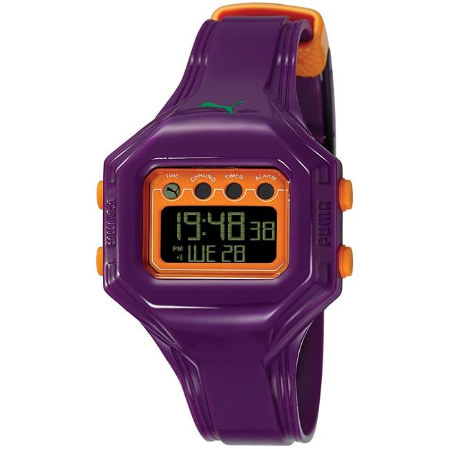 Puma PU910772006 Women's 'Bounce' S Purple Digital Watch