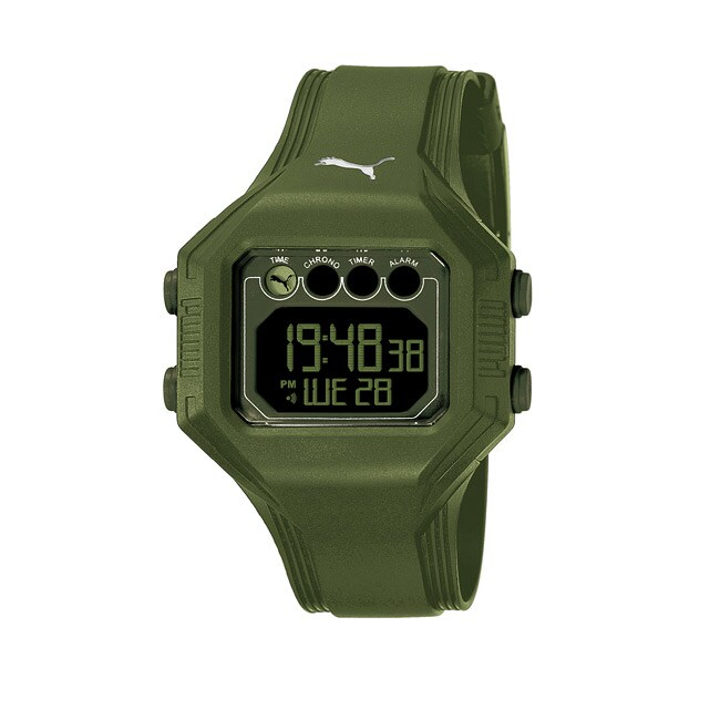 Puma Men's PU910771004 'Bounce' Army Green Digital Watch