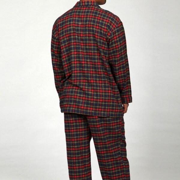 Nautica Men S Red Flannel 2 Piece Pajama Set Free