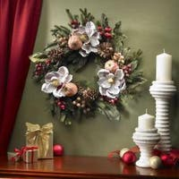 Magnolia Pinecone and Berry Wreath