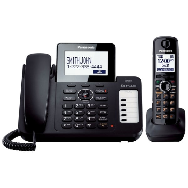 Panasonic KX-TG6671B DECT 6.0 1.90 GHz Cordless Phone - Black