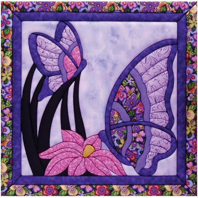 Butterfly 15.5x15.5 Quilt Magic Kit (Butterfly) (Fabric)