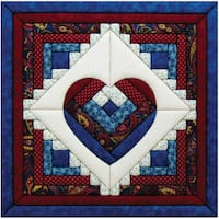 Quilt Magic Log Cabin Heart  Kit (15.5 x 15.5)