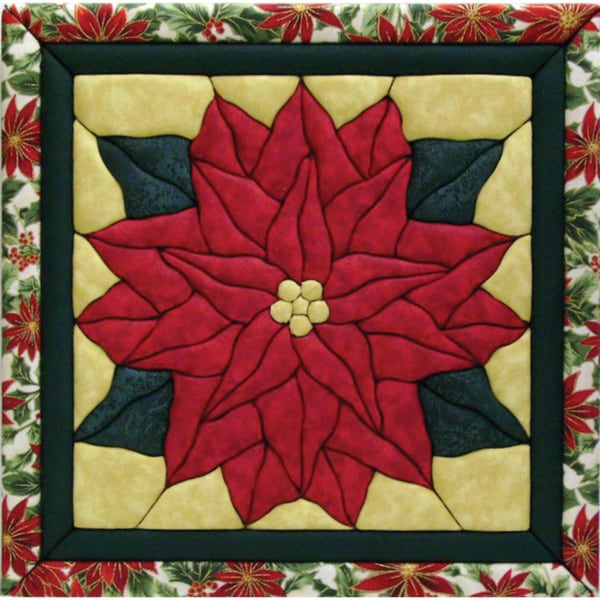 shop poinsettia 12x12 quilt magic kit free shipping on orders over 45 6268577. Black Bedroom Furniture Sets. Home Design Ideas