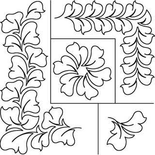 Patricia Ritter 17x20 'Hyacinth' Quilt Stencil