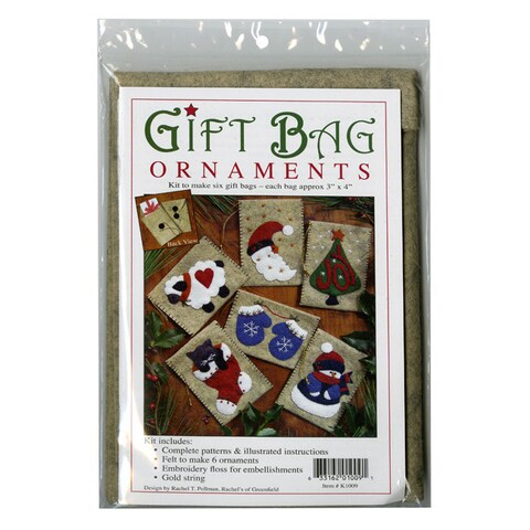 Rachels of Greenfield Gift Bag Ornaments Kit (3x4)
