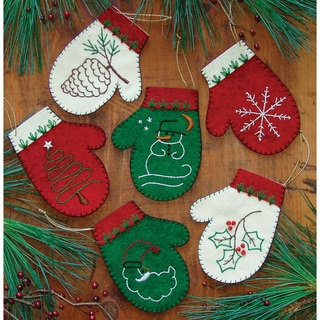 Rachels of Greenfield Mittens Ornament Kit (Set of 6)