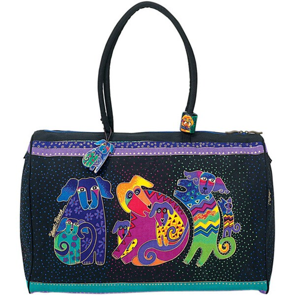 Laurel Burch Dogs & Doggies Artistic Totes Travel Bag