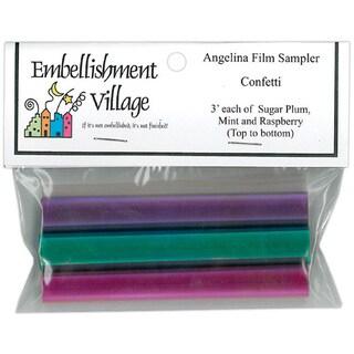 Embellishments Village Raspberry/Mint/Sugar Plum Angelina Film Sampler