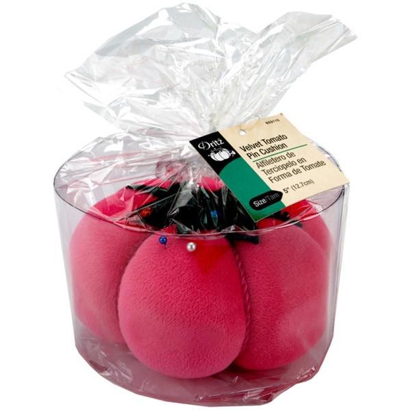 Dritz Pink Velvet Tomato Pin Cushion