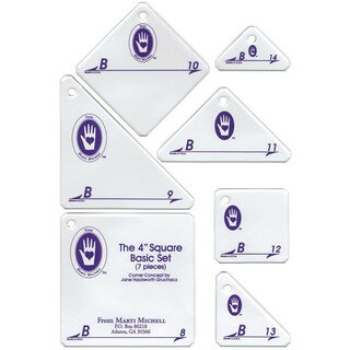 Perfect Patchwork Template Set B 4-inch Basic Square Set (Pack of 7)