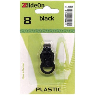 ZlideOn Plastic Size 8 Black Zipper Pull Replacement
